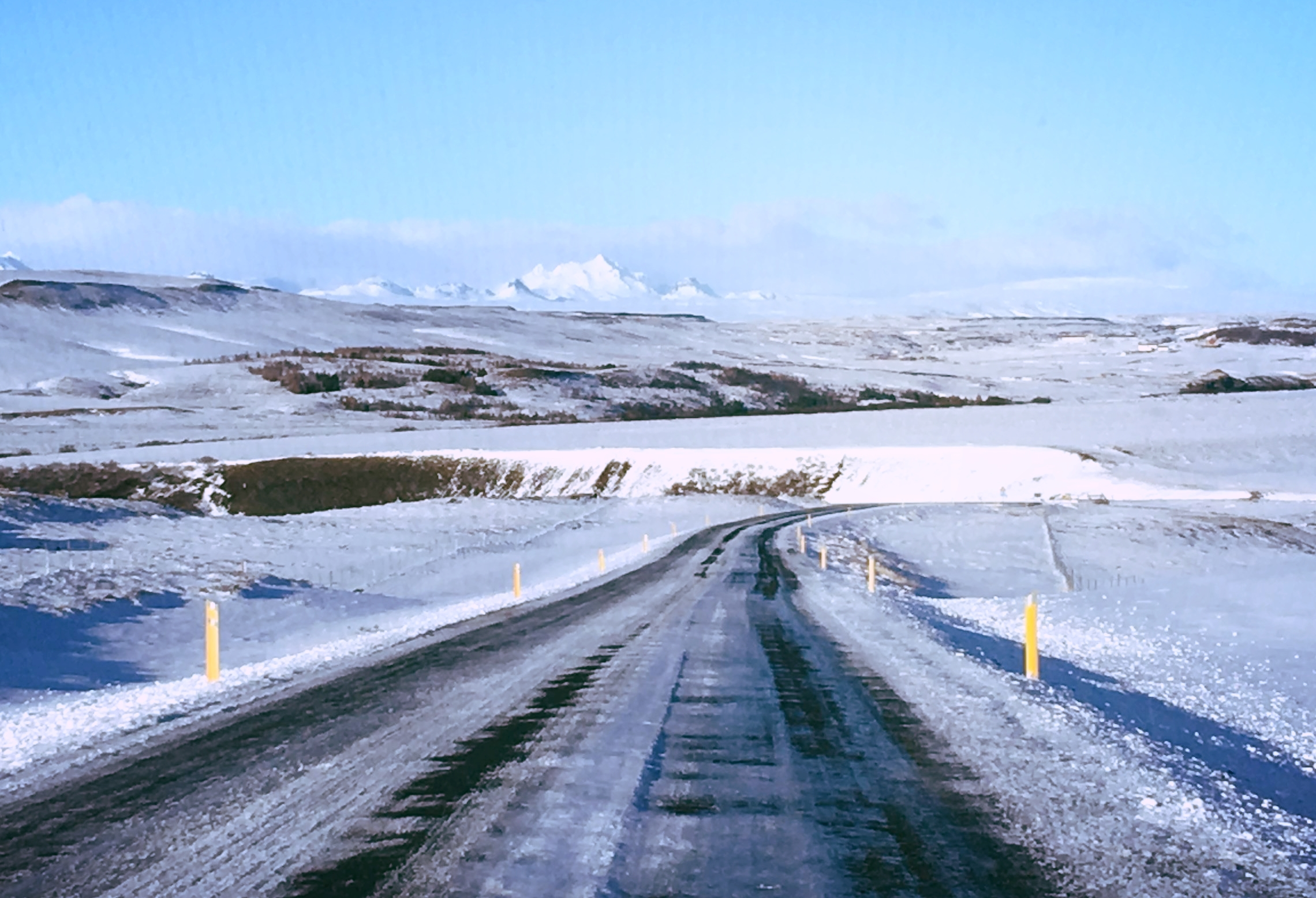 Somewhere between Reykjavik and the Secret Lagoon. Thank goodness we were upgraded to 4-wheel drive!