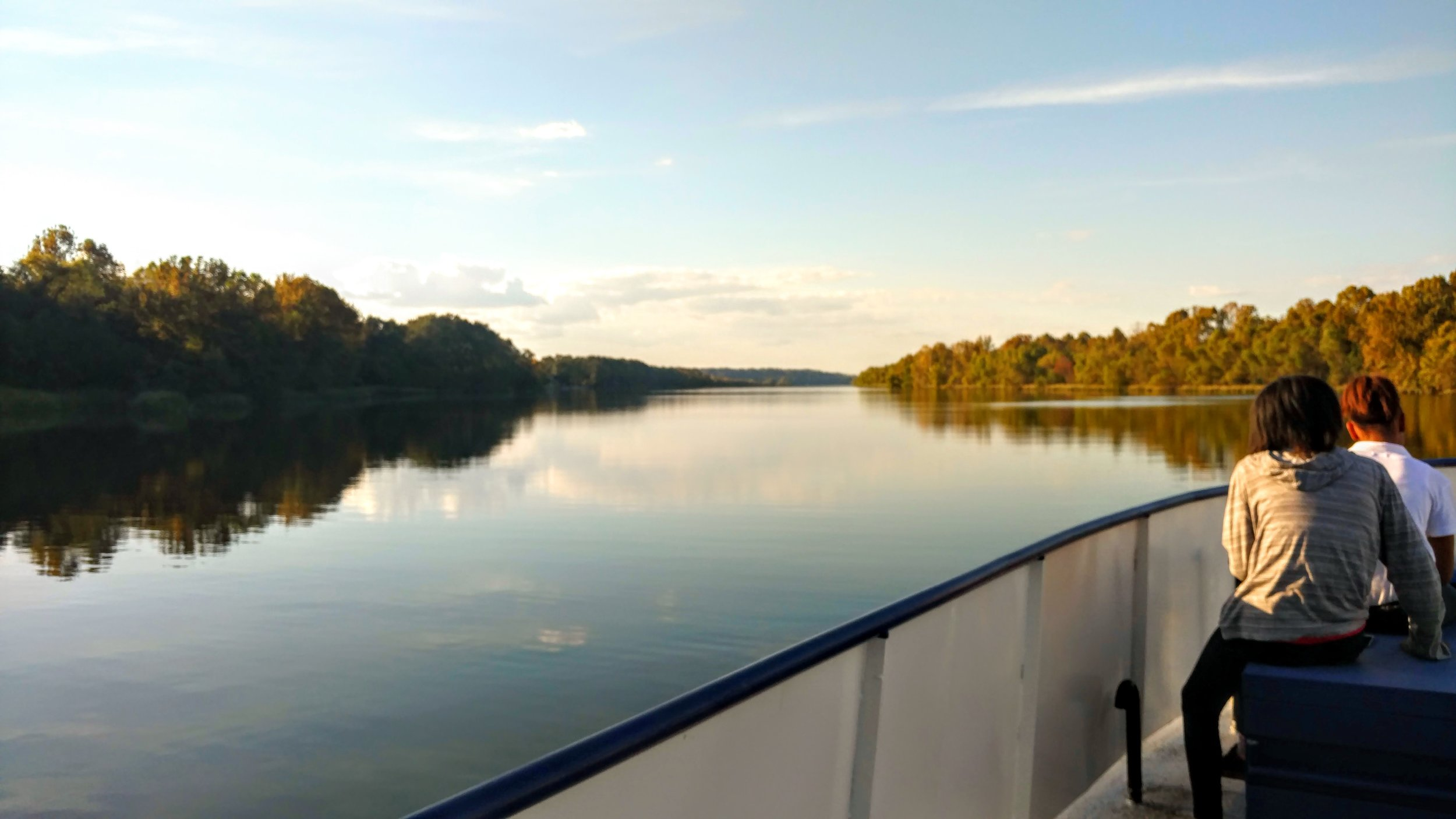 The Alabama River as seen from the Gee's Bend Ferry, 2016, copyright Stuart Moores Textiles