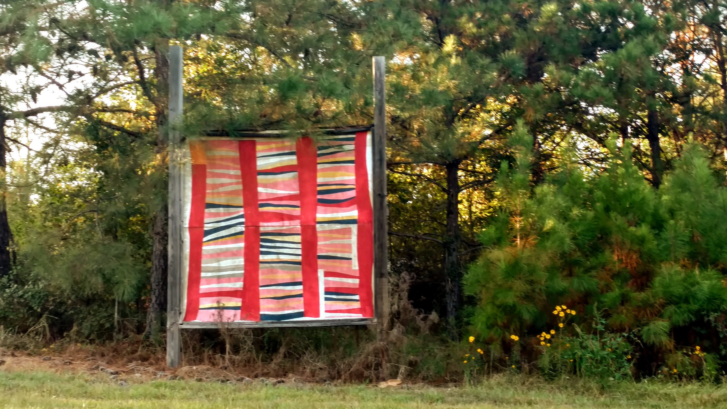 Bars and String-pieced Columns  by Jessie T. Pettway, 2017, copyright Stuart Moores Textiles
