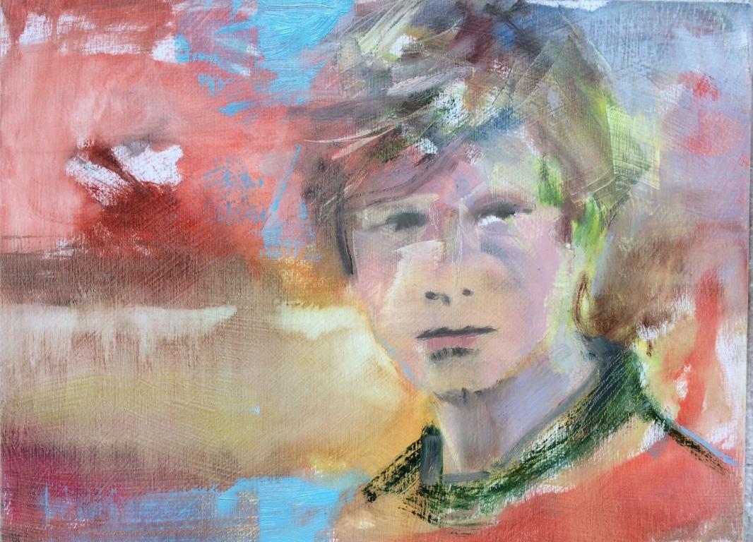 """Boy, 2016, oil on panel, 8""""x10"""""""