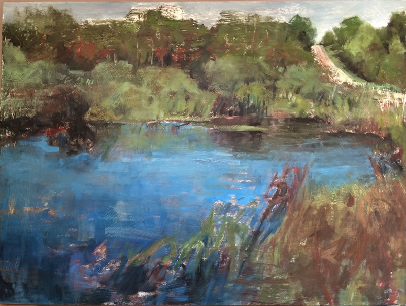 "Swamp, 2016, oil on panel, 30""x36"""