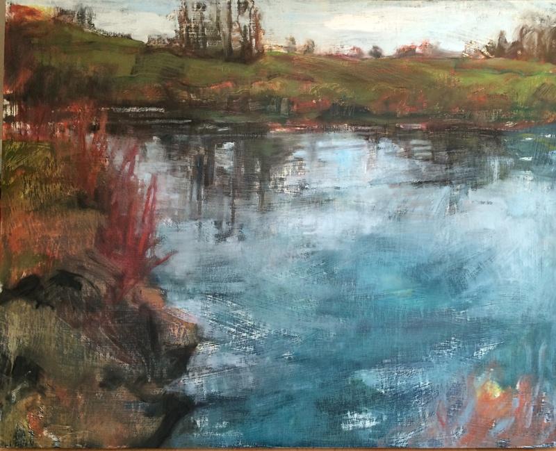 "Swamp, 2016, oil on panel, 24""x30"""