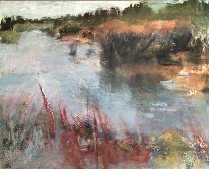 """Swamp II, 2016, oil on panel, 24""""x30"""""""