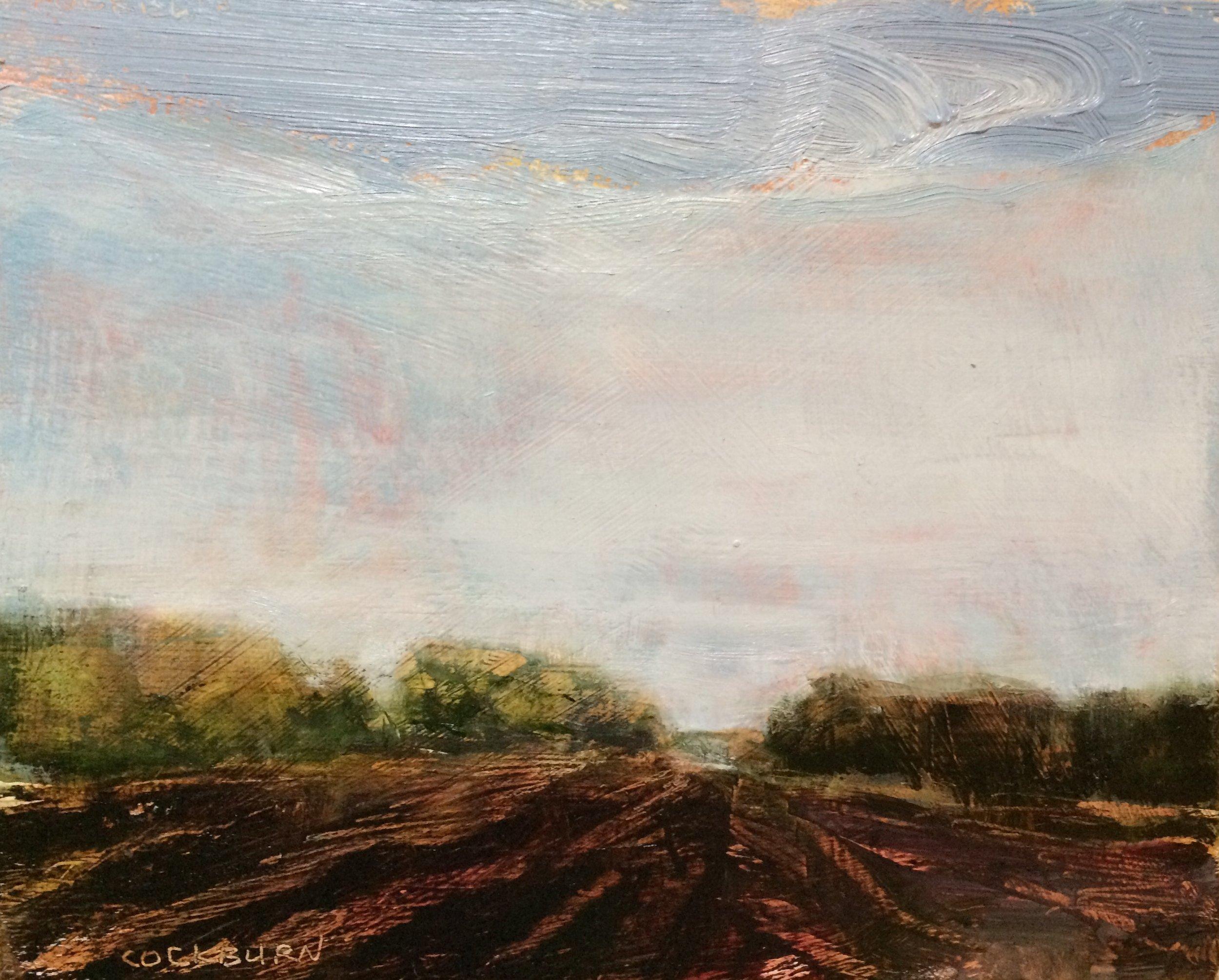 "Dark Earth, 2017, oil on panel, 8""x10"""