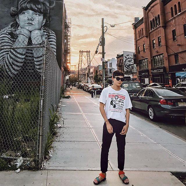 Brooklyn is more like home now. :) 👕: @localauthorityla x @thierrylasry — #localauthorityla #thierrylasry #menswear #mensfashion #style #fashion #Life #Lifestyle #Mood #gaysian #Williamsburg #williamsburg #Bushwick #Brooklyn #NewYork #NYC