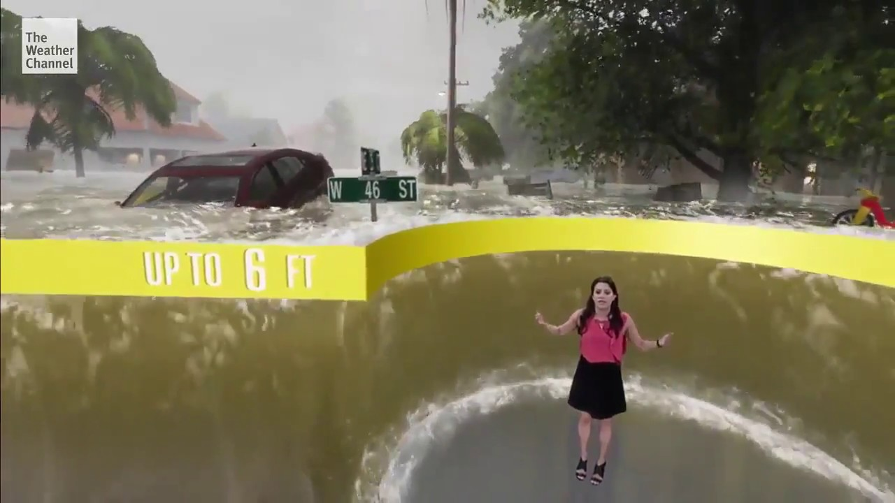 Future of TV: Hurricane Florence in Mixed Virtual Reality