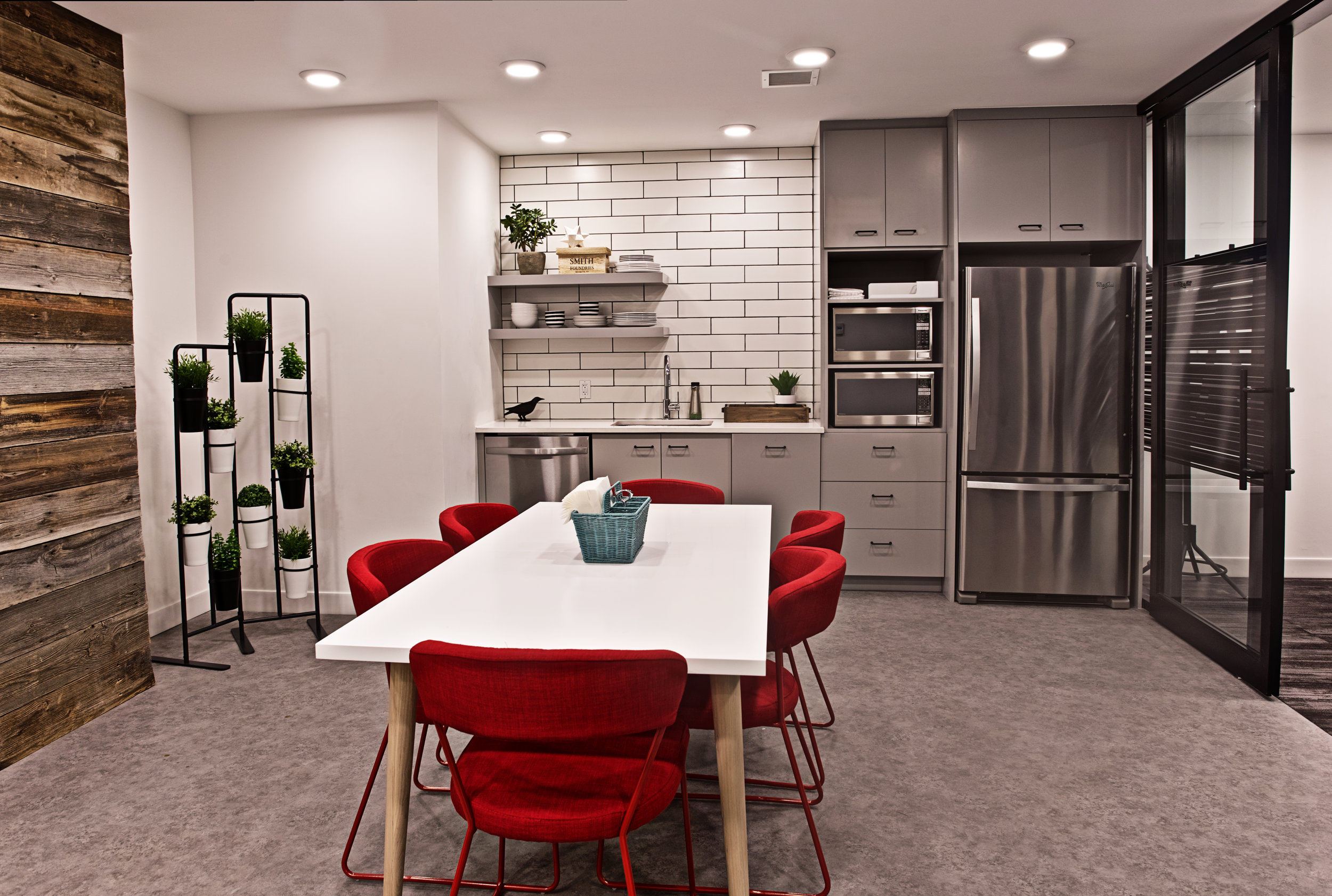 Shared Office Space Kitchen