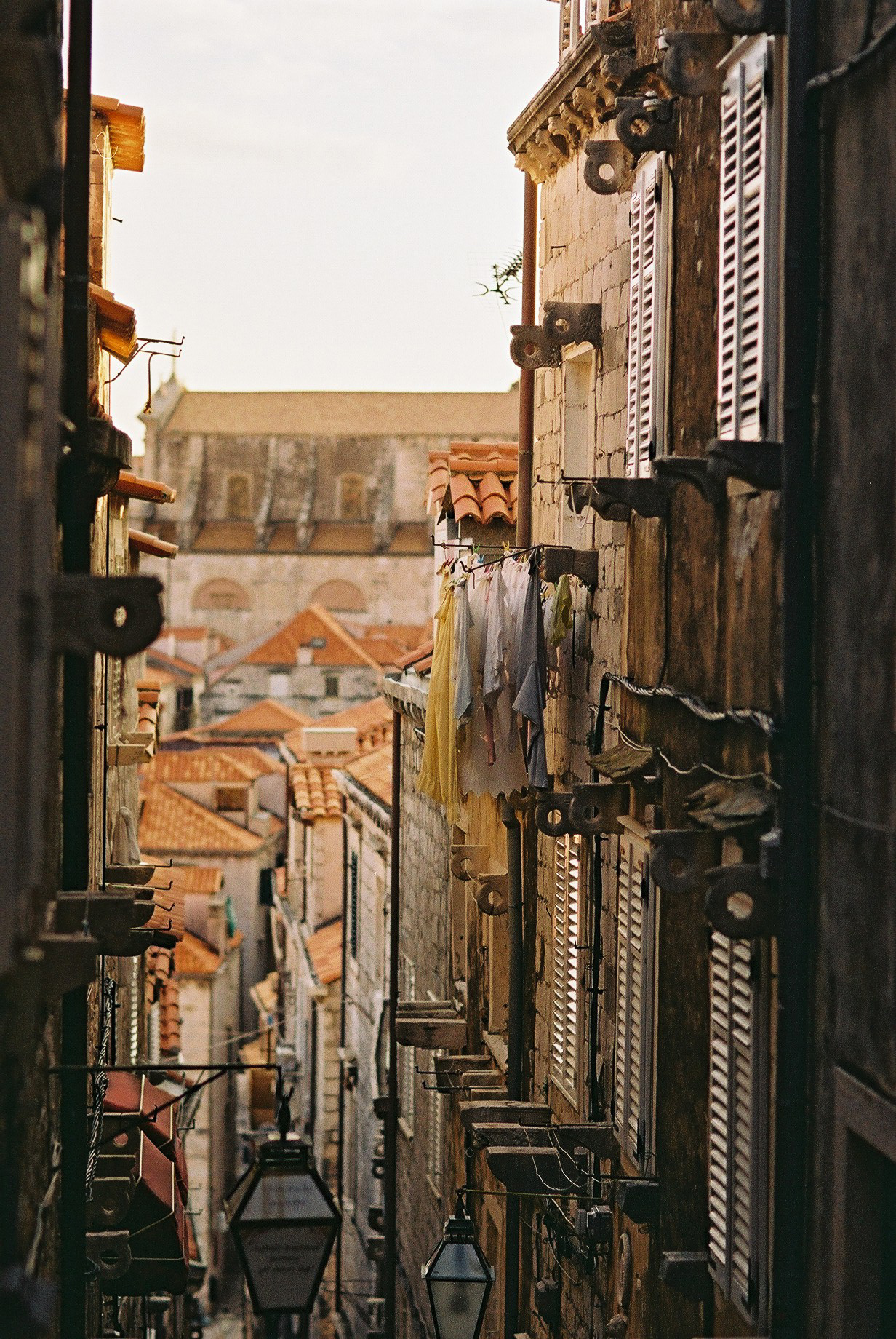 A street between lives. Old Town, Dubrovnik. Film. #35mm