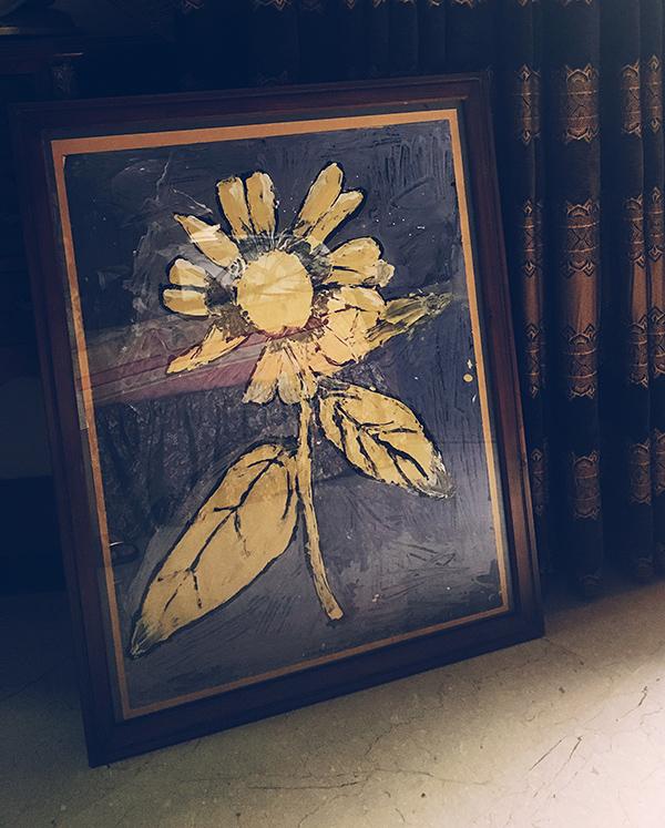 A Van Goh like Flower - by me in 3rd grade.