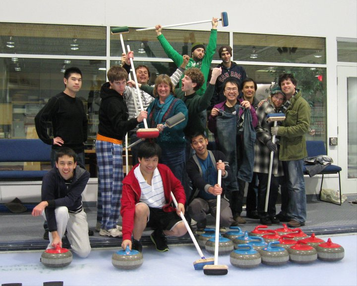 One of our many Scrabble traditions started during my aimless college years was is an annual curling outing. (Vancouver, March 2011)