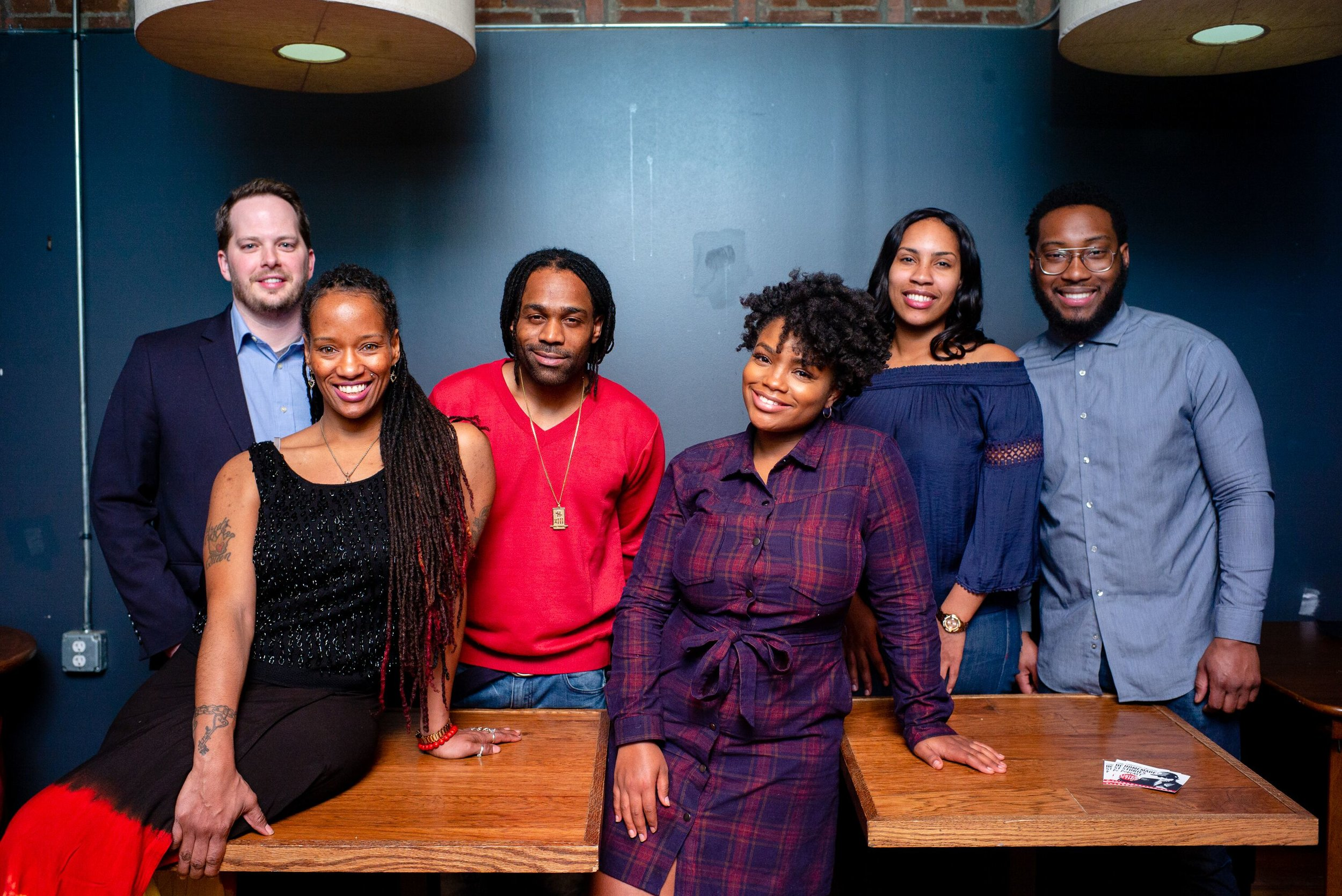 Pictured (left to right): Mark Kiel, Charese L. Howard, Clement Brown, Jr., Autumn Kyles, Victoria Washington and Daniel A. Washington. Photo by Stephen Koss.