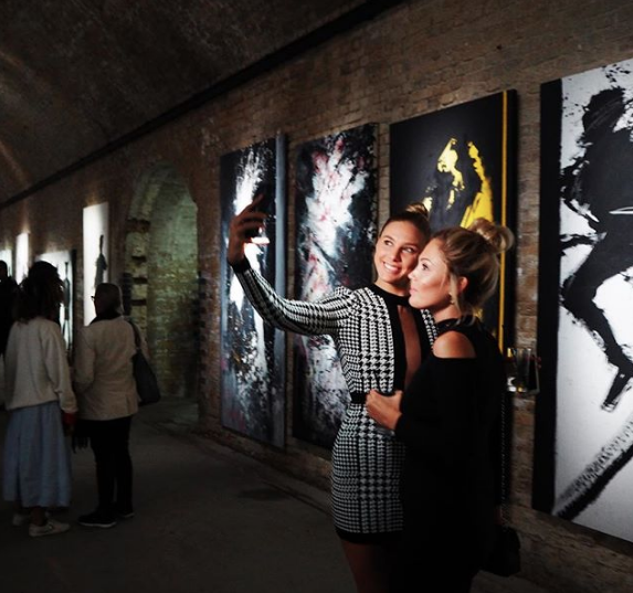 Richard Hambleton Shadowman Retrospective private view at the Leake Street Tunnels.  Photo by @theofficialshadowman