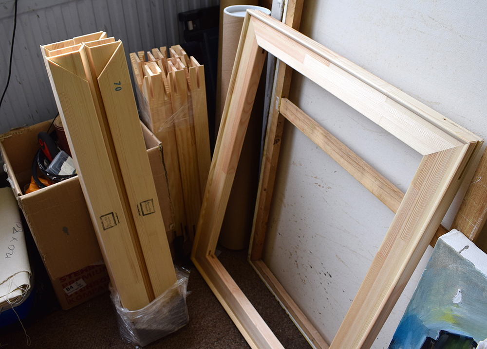 Stretcher bars always at the ready for my next canvases
