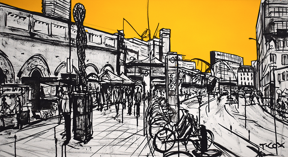 Lunchtime in Shoreditch, 2019 | 55 x 100 cm | £750