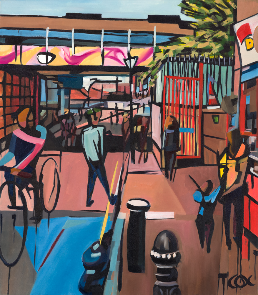 Portobello Paradise, 2018 | Indian ink & oil on canvas | 70 x 80 cm | £1,960