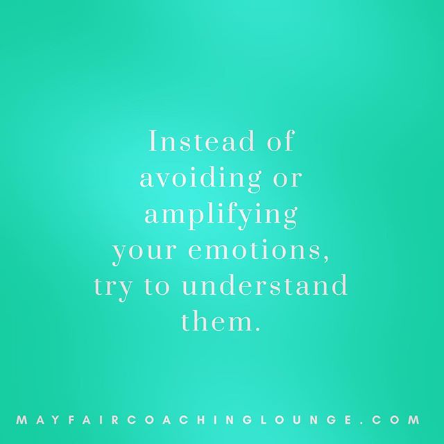 Instead of avoiding or amplifying your emotions, try to understand them.  Tag a friend who really needs to see this message today 👇  #anxiety #anxietycoach #socialanxiety #anxietysupport #anxietyproblems #anxietyattacks #anxietycoaching #nomoreanxiety #overcomeanxiety #mindsetiseverything #masteryoflove #masteryourmindset #masteryourmind #emotionalwellbeing #emotionalquotes #emotionalwellness #workplaceanxiety #sadness #impostersyndrome #coaching #mayfairlifecoach #depression #londonlifecoach #selflove #love #selfdevelopment #londongay #selfcare #mayfairlondon