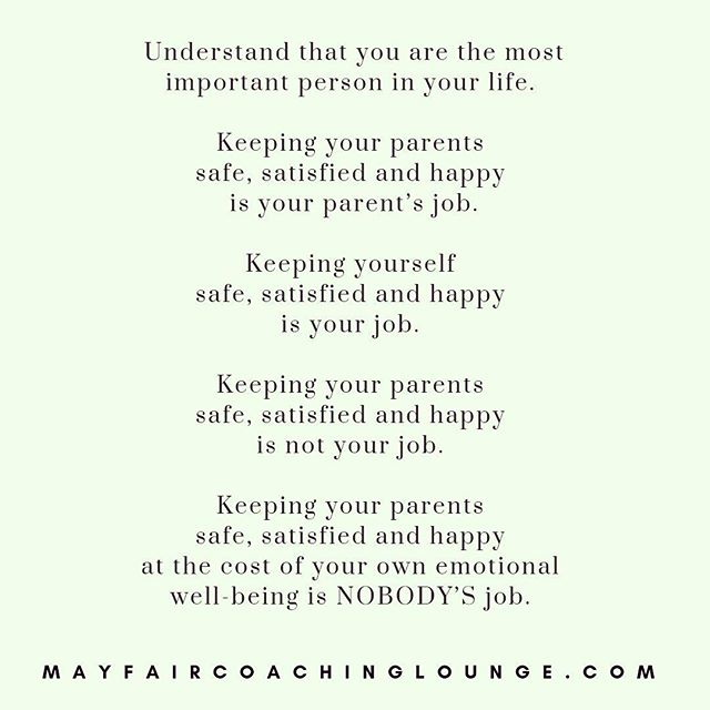 Understand that you are the most important person in your life. ⠀ ⠀ Keeping your parents safe, satisfied and happy is your parent's job.⠀ ⠀ Keeping yourself safe, satisfied and happy is your job. ⠀ ⠀ Keeping your parents safe, satisfied and happy is not your job. ⠀ ⠀ Keeping your parents safe, satisfied and happy at the cost of your own emotional well-being is NOBODY'S job. ⠀ ⠀ ⠀ Tag a friend who really needs to see this message today 👇⠀ ⠀ #anxietycoach #socialanxiety #anxietysupport #anxietyproblems #anxietyattacks #anxietycoaching #nomoreanxiety #overcomeanxiety #mindsetiseverything #masteryoflove #masteryourmindset #masteryourmind #emotionalwellbeing #emotionalquotes #emotionalwellness #workplaceanxiety #sadness #impostersyndrome #coaching #mayfairlifecoach #depression #londonlifecoach #selflove #love #selfdevelopment #londongay #selfcare #mayfairlondon⠀