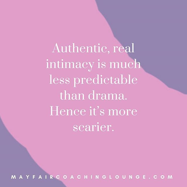 Authentic, real intimacy is much less predictable than drama. Hence it's more scarier.  Tag a friend who really needs to see this message today 👇  #anxietycoach #socialanxiety #anxietysupport #anxietyproblems #anxietyattacks #anxietycoaching #nomoreanxiety #overcomeanxiety #mindsetiseverything #masteryoflove #masteryourmindset #masteryourmind #emotionalwellbeing #emotionalquotes #emotionalwellness #workplaceanxiety #sadness #impostersyndrome #coaching #mayfairlifecoach #depression #londonlifecoach #selflove #love #selfdevelopment #londongay #selfcare #mayfairlondon