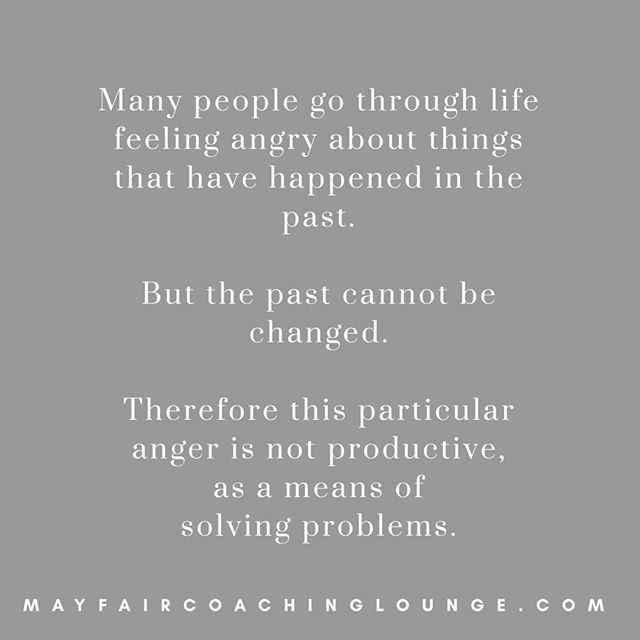 Many people go through life feeling angry about things that have happened in the past. But the past cannot be changed. Therefore this particular anger is not productive, as a means of solving problems.  Tag a friend who really needs to see this message today 👇  #anxietycoach #socialanxiety #anxietysupport #anxietyproblems #anxietyattacks #anxietycoaching #nomoreanxiety #overcomeanxiety #mindsetiseverything #masteryoflove #masteryourmindset #masteryourmind #emotionalwellbeing #emotionalquotes #emotionalwellness #workplaceanxiety #sadness #impostersyndrome #coaching #mayfairlifecoach #depression #londonlifecoach #selflove #love #selfdevelopment #londongay #selfcare #mayfairlondon #london #selfcare