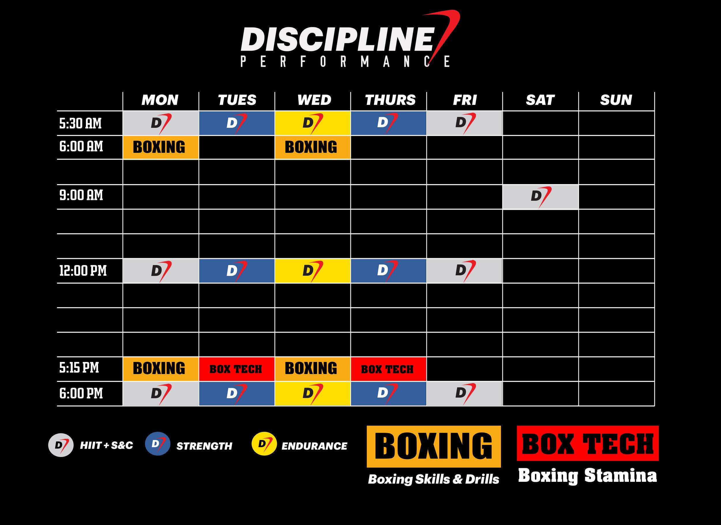 Discipline Performance