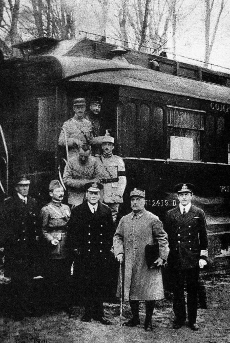 The Allies after the signing of the armistice,  November 11, 1918