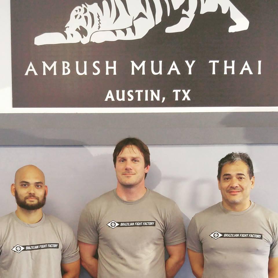 Ambush Muay Thai coaches: Coach Bobby Peek, Coach Elton Wells, and now Coach Jason Webster.