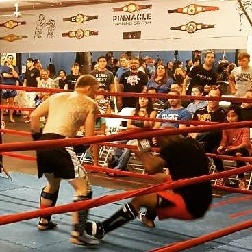 Team Ambush fighter Jon Hester drops his opponent with a hard hook at SPARta II.