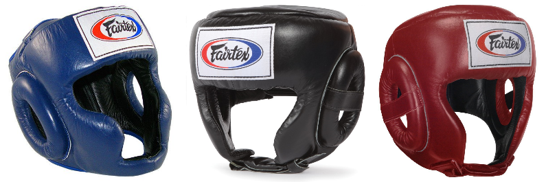 Fairtex sparring, competition, and open face head gears