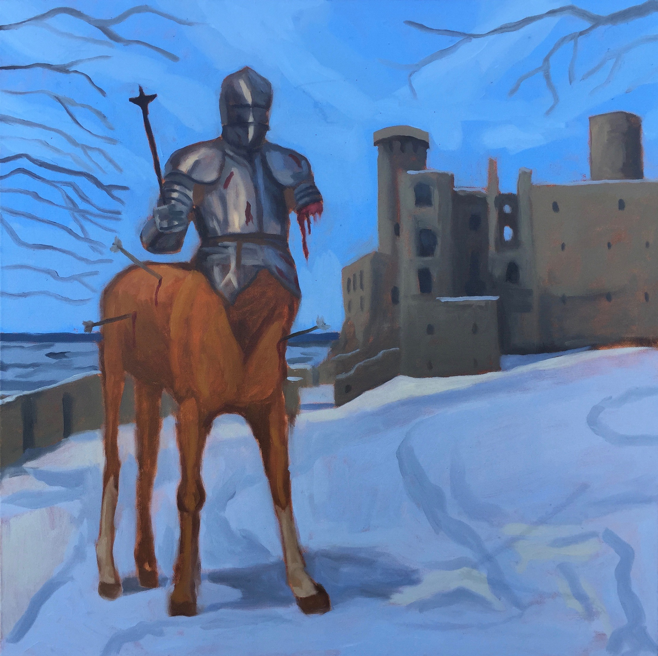 """History of the Centaur, pt. 1"" - 24x24 - oil on canvas"