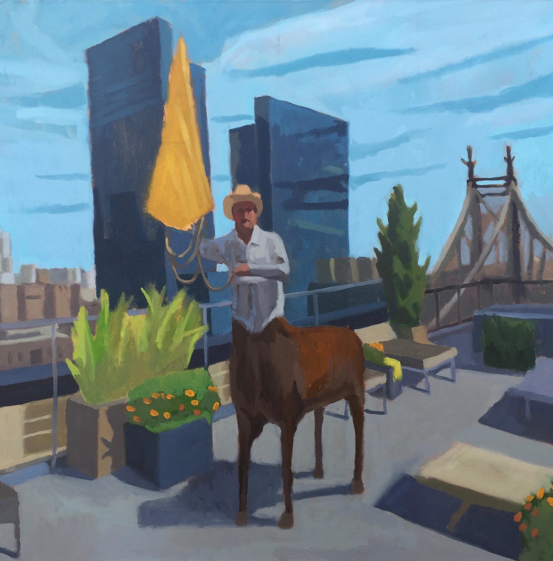 """History of the Centaur, pt. 2"" - 24x24 - oil on canvas"