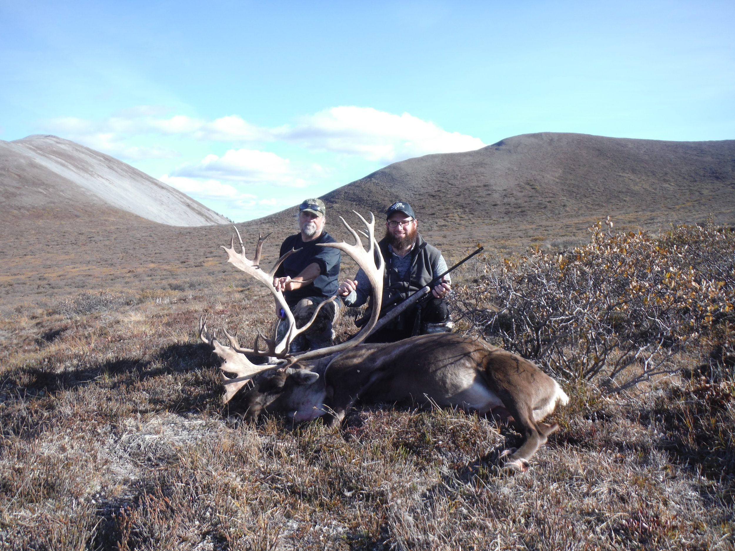 Ed and Eddie with their caribou