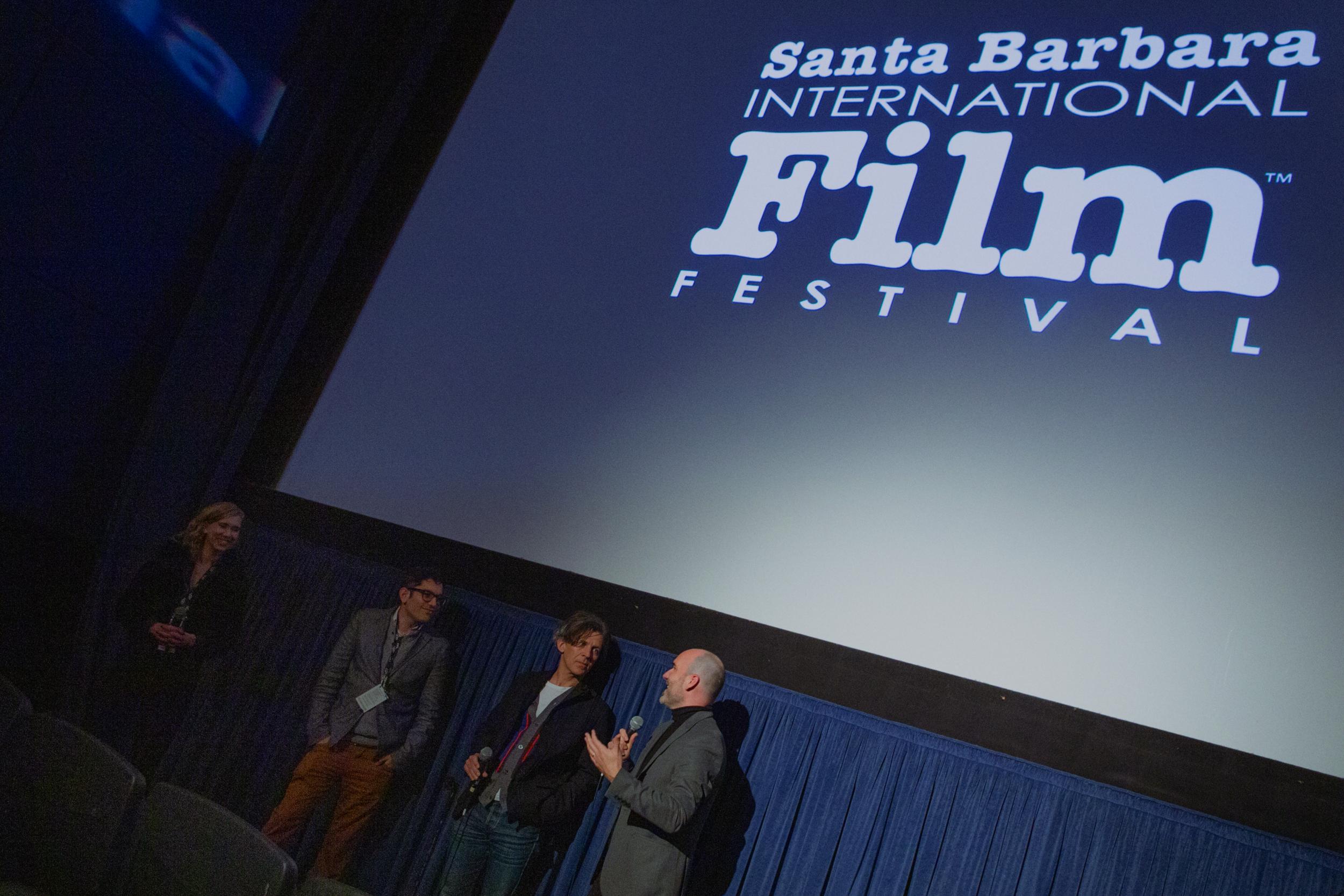 Co-Writer Arbi Pedrossian, Composer Adam Peters & Writer-Director Pascui Rivas at the Santa Barbara International Film Festival Q&A. (Photo by @ClovisIV)