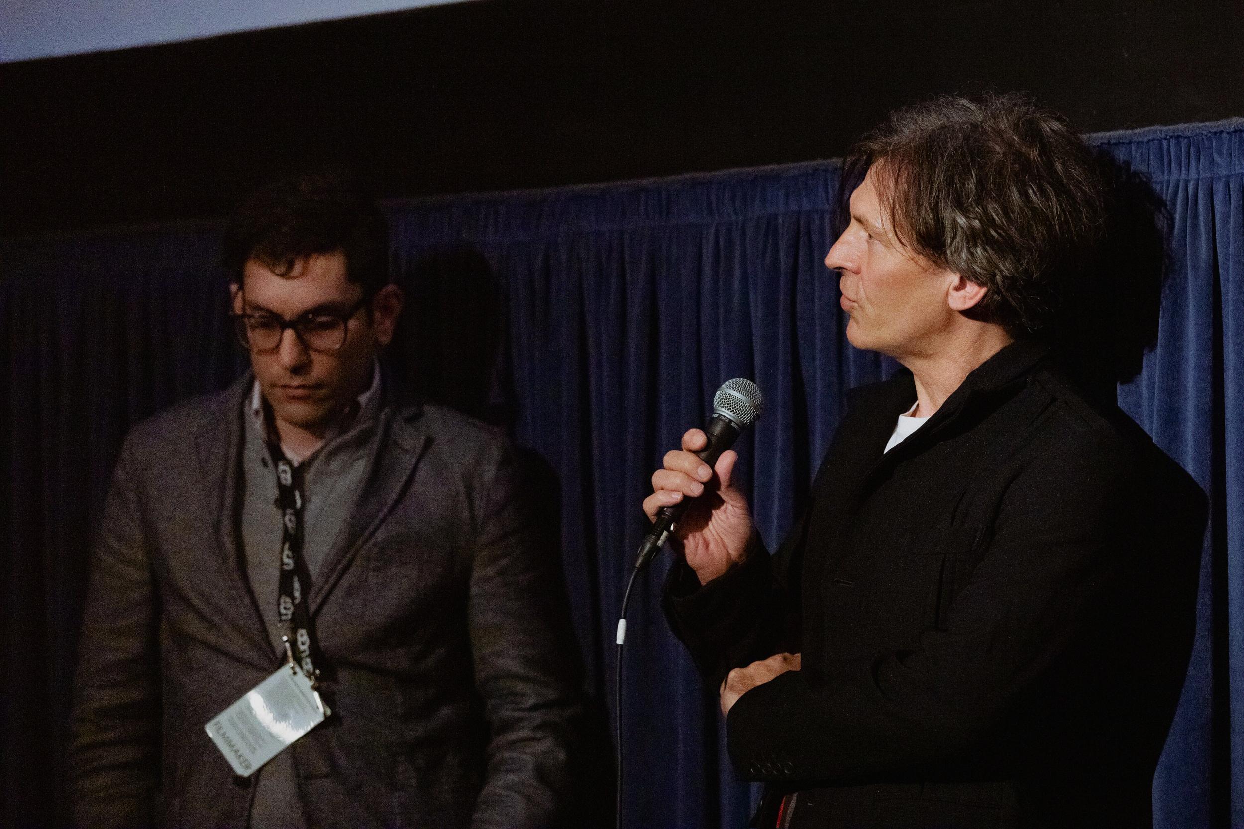 Composer Adam Peters at the Santa Barbara International Film Festival Q&A. (Photo by @ClovisIV)