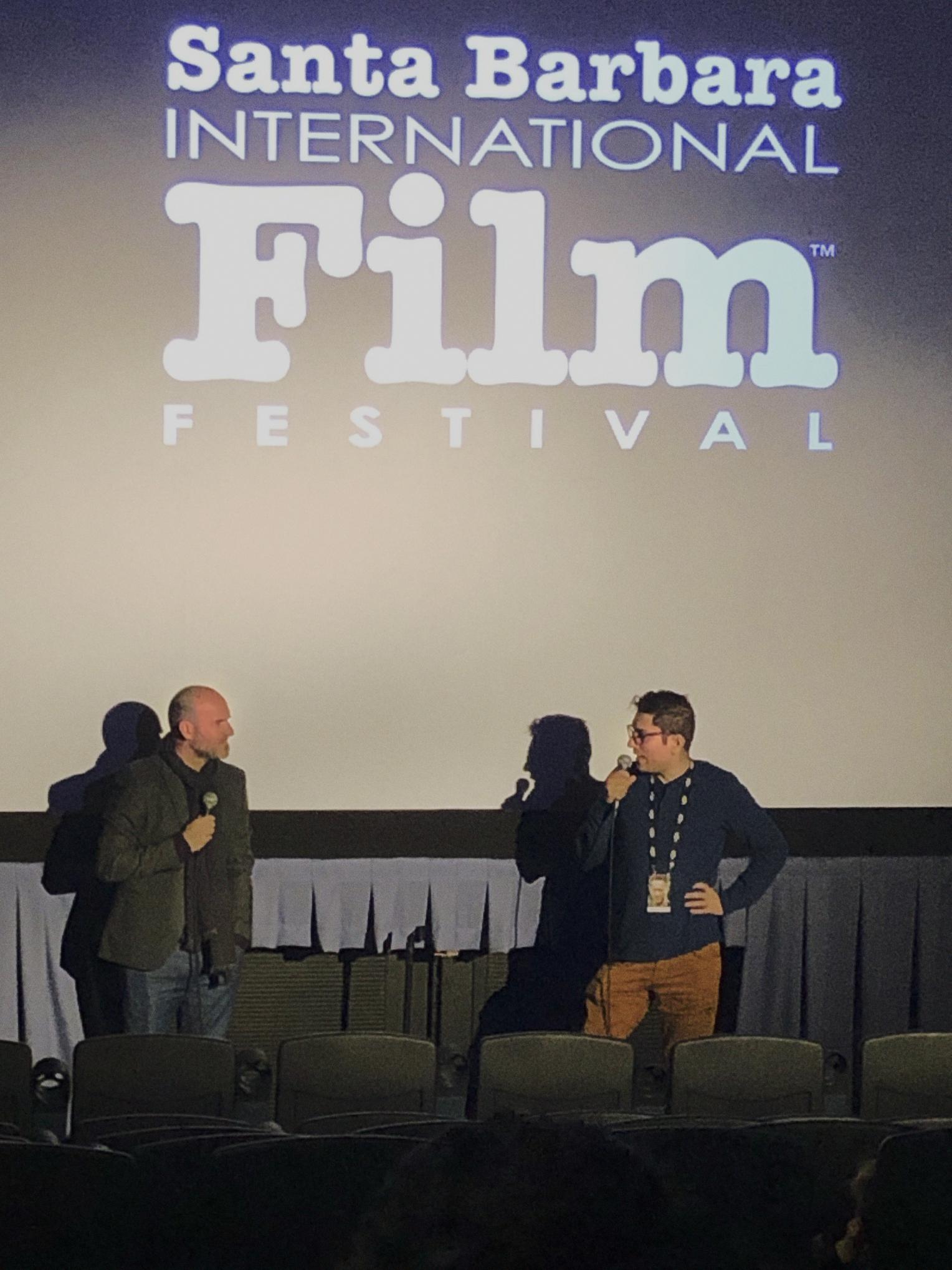 Writer-Director Pascui Rivas & Co-Writer Arbi Pedrossian at the Santa Barbara International Film Festival Q&A.