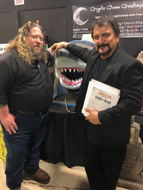 Steve with his Bruce and special effects and movie legend Tom Savini
