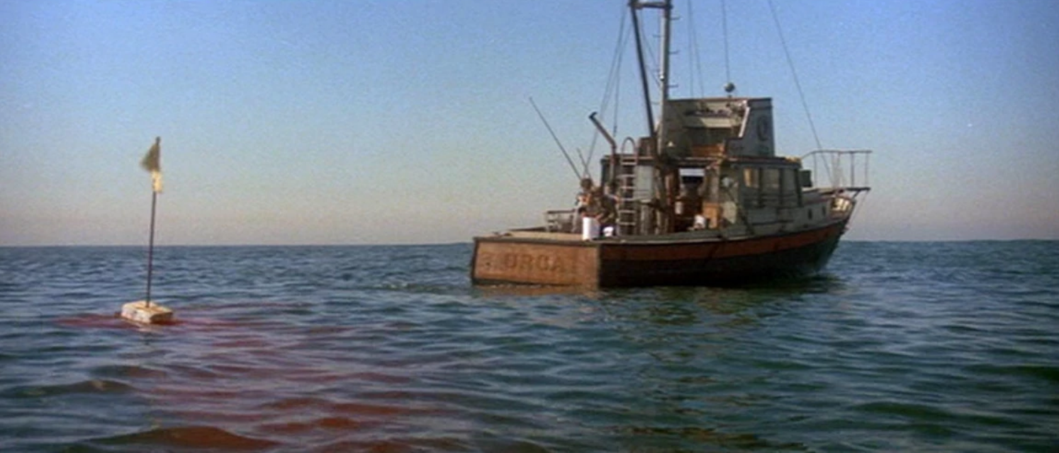 Isolated on the open seas aboard the Orca. Jaws (1975)
