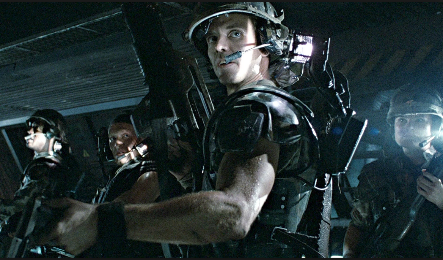 Aliens (1986) saw a squad of bad-ass marines get taken apart by an army of xenomorph