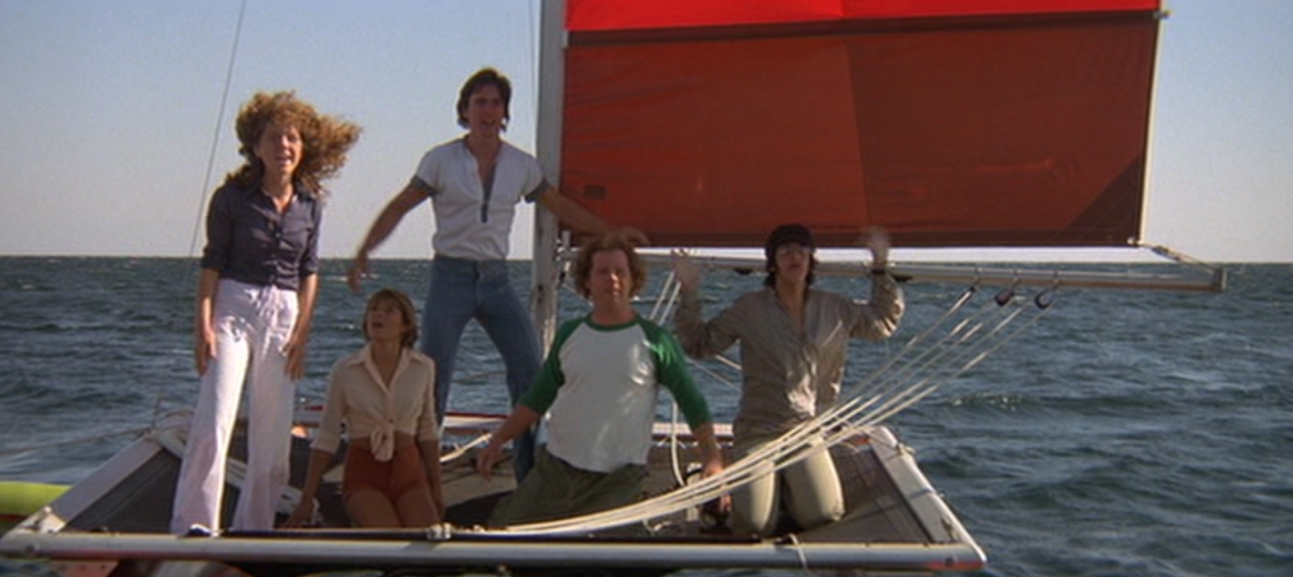 Jaws 2 saw it follow the trend and popularity of the slasher film by pitting some teenage islanders against the shark