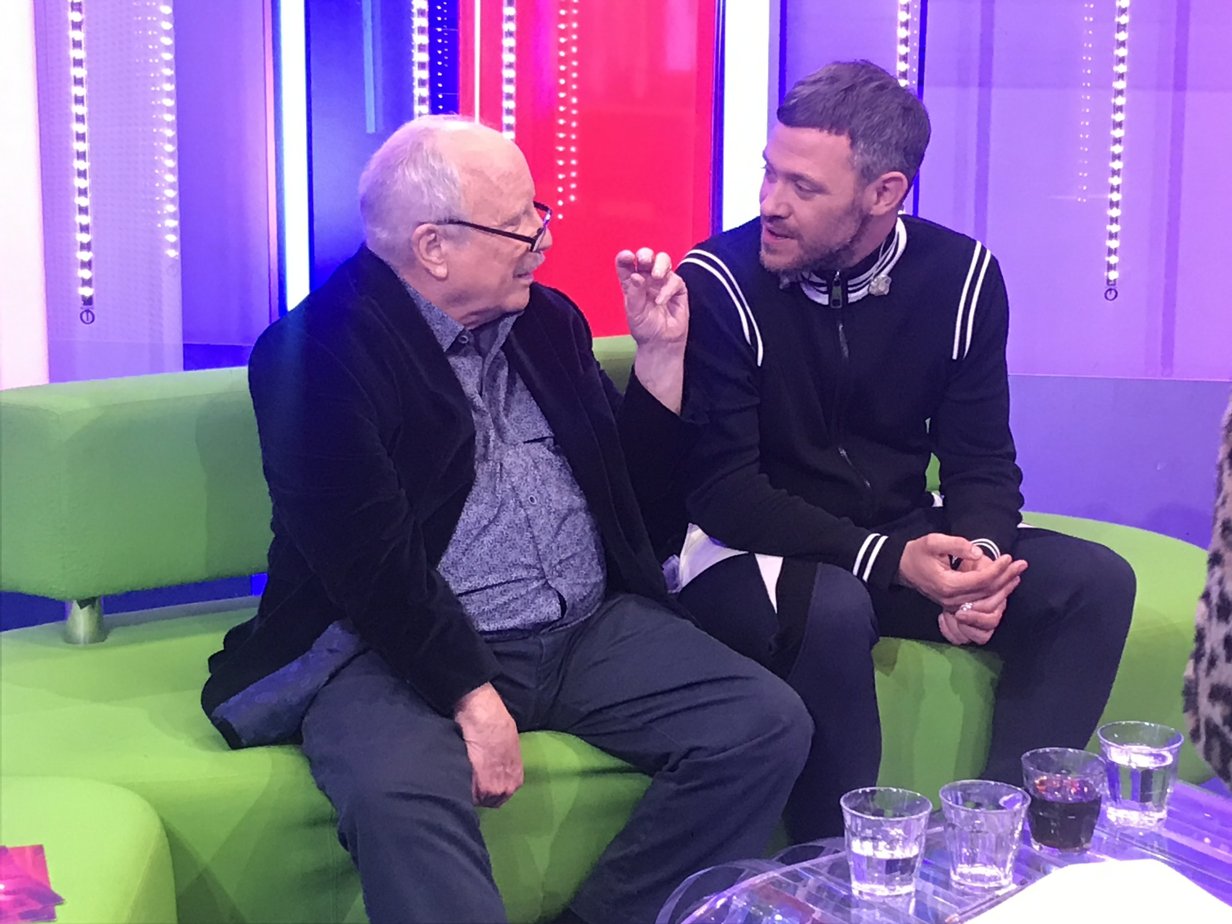 Richard chats with One Show guest Will Young after the show