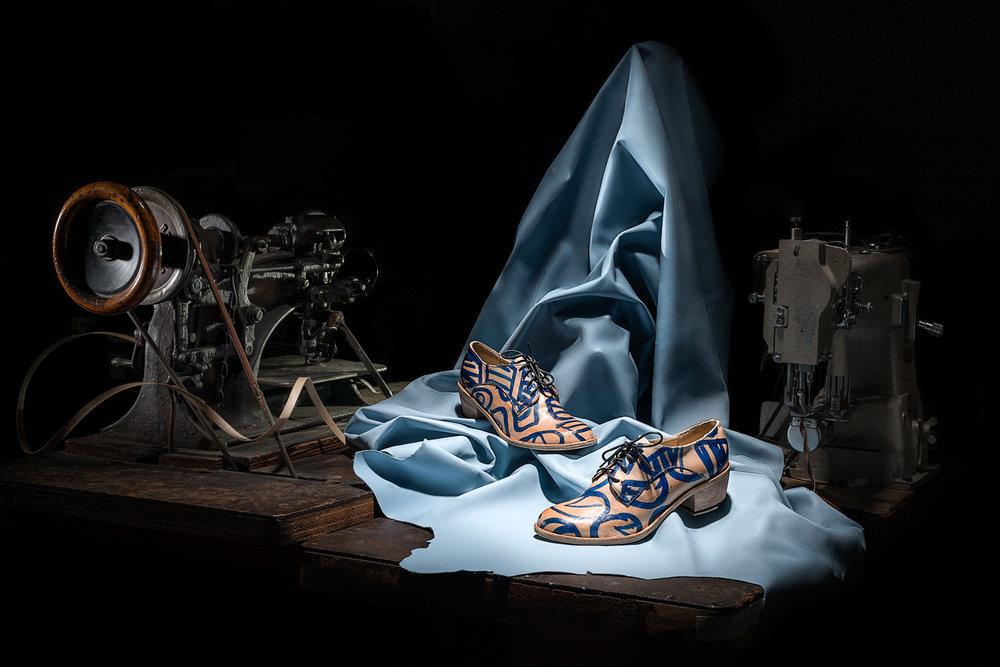 Painted Derby Heels - image by Devika Bilimoria 2017