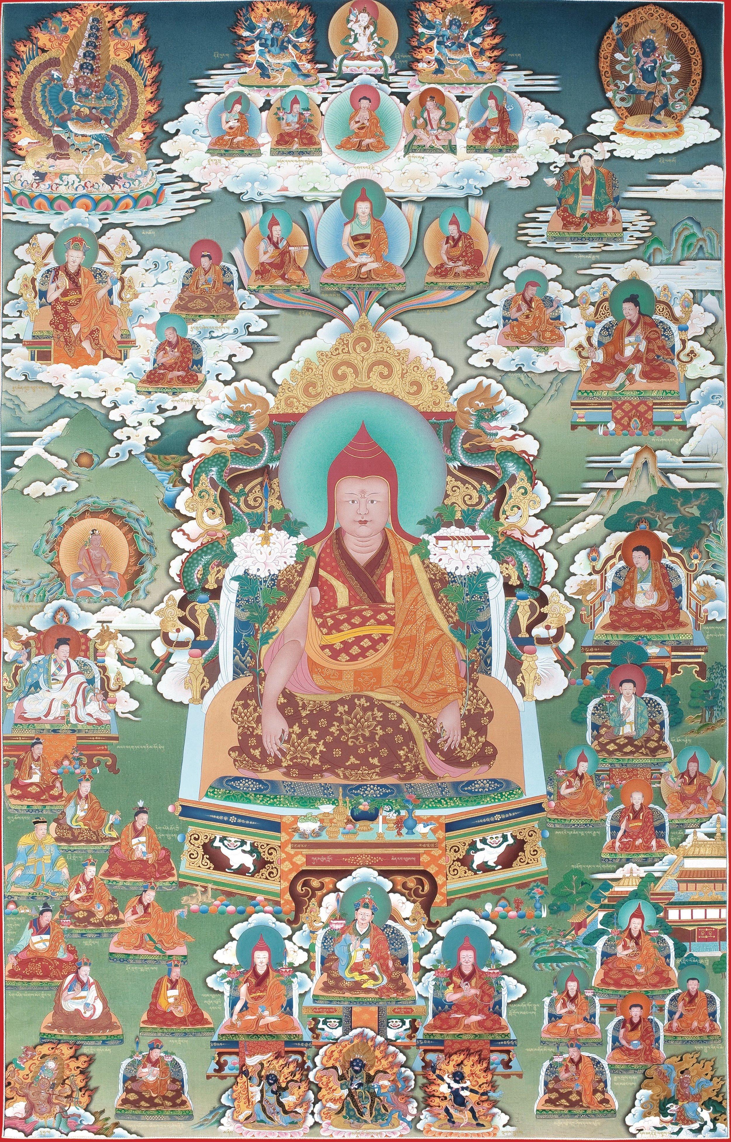 Lineage masters of the Nyingma school of Tibetan Buddhism