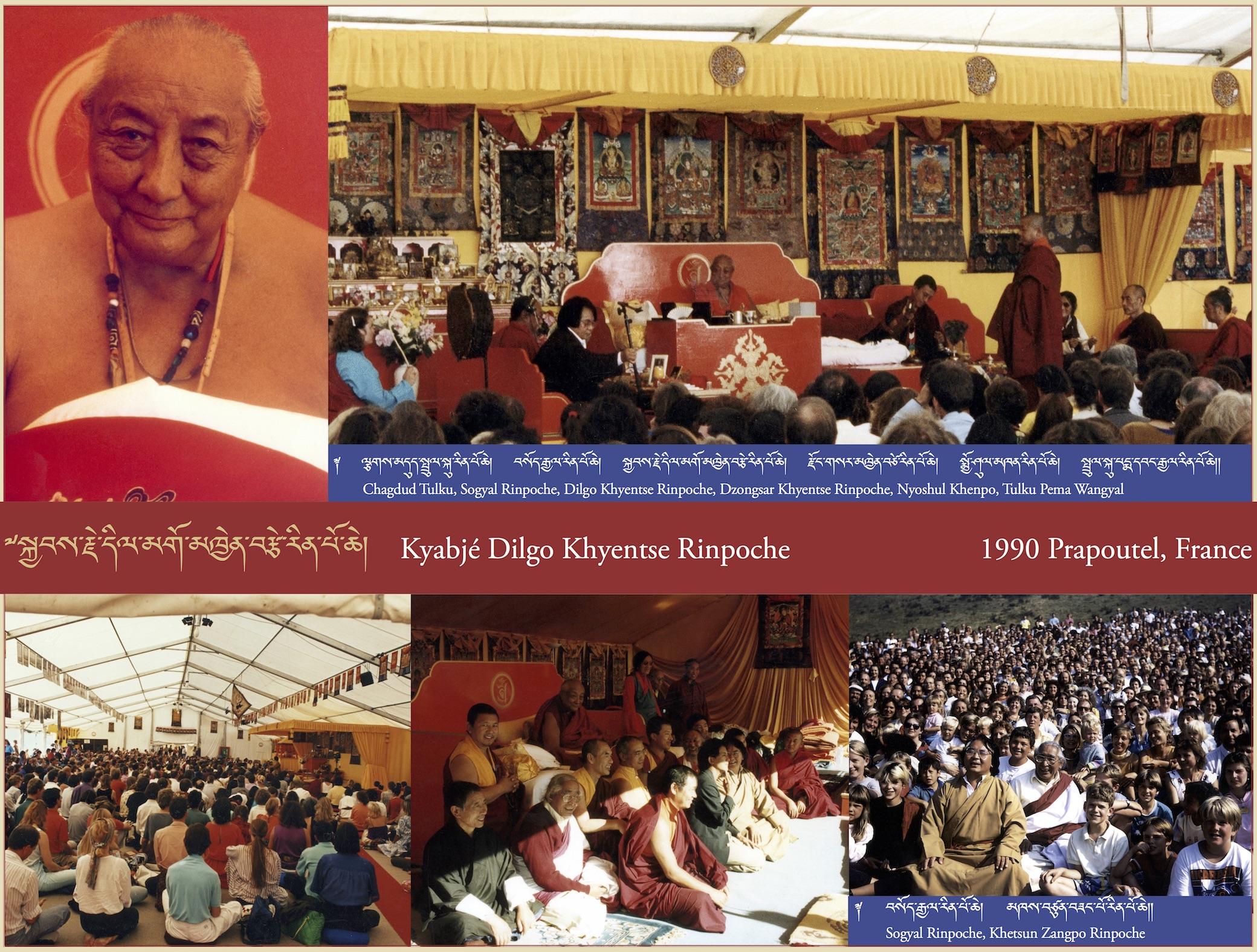 Kyabjé Dilgo Khyentse Rinpoche, 1990 Prapoutel, France