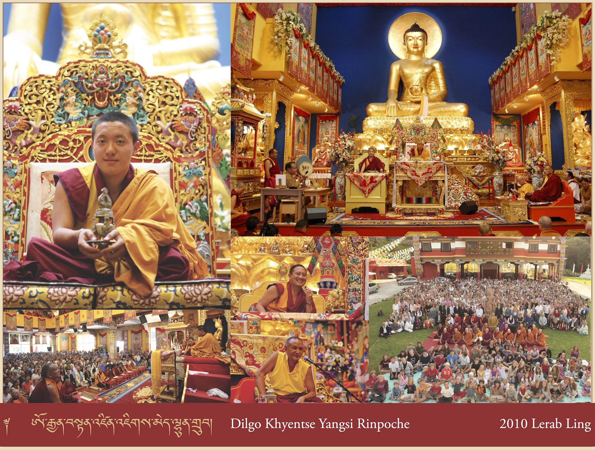 Dilgo Khyentse Yangsi Rinpoche, 2010 Lerab Ling
