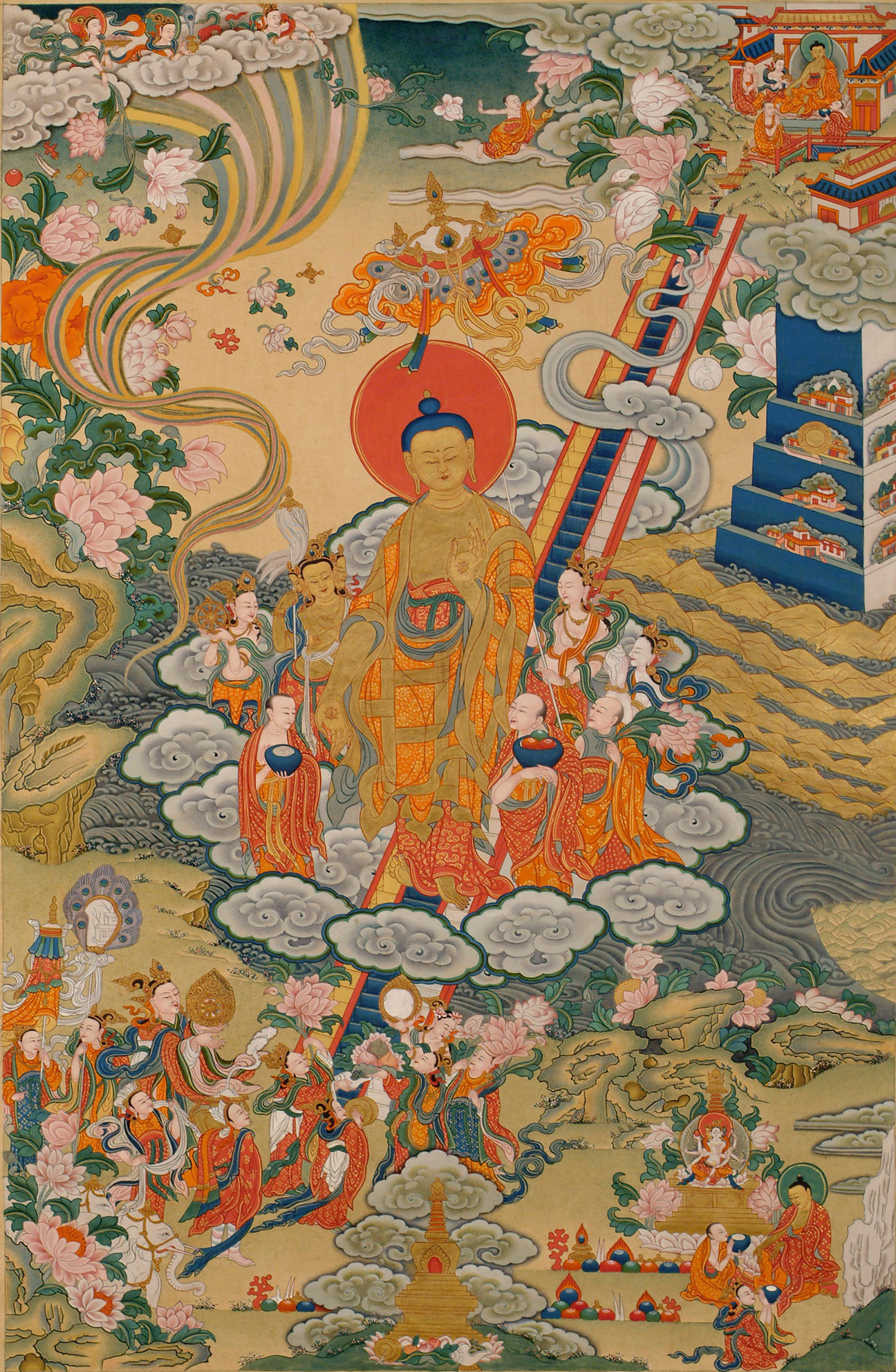 Descent from the Heaven of the Thirty Three