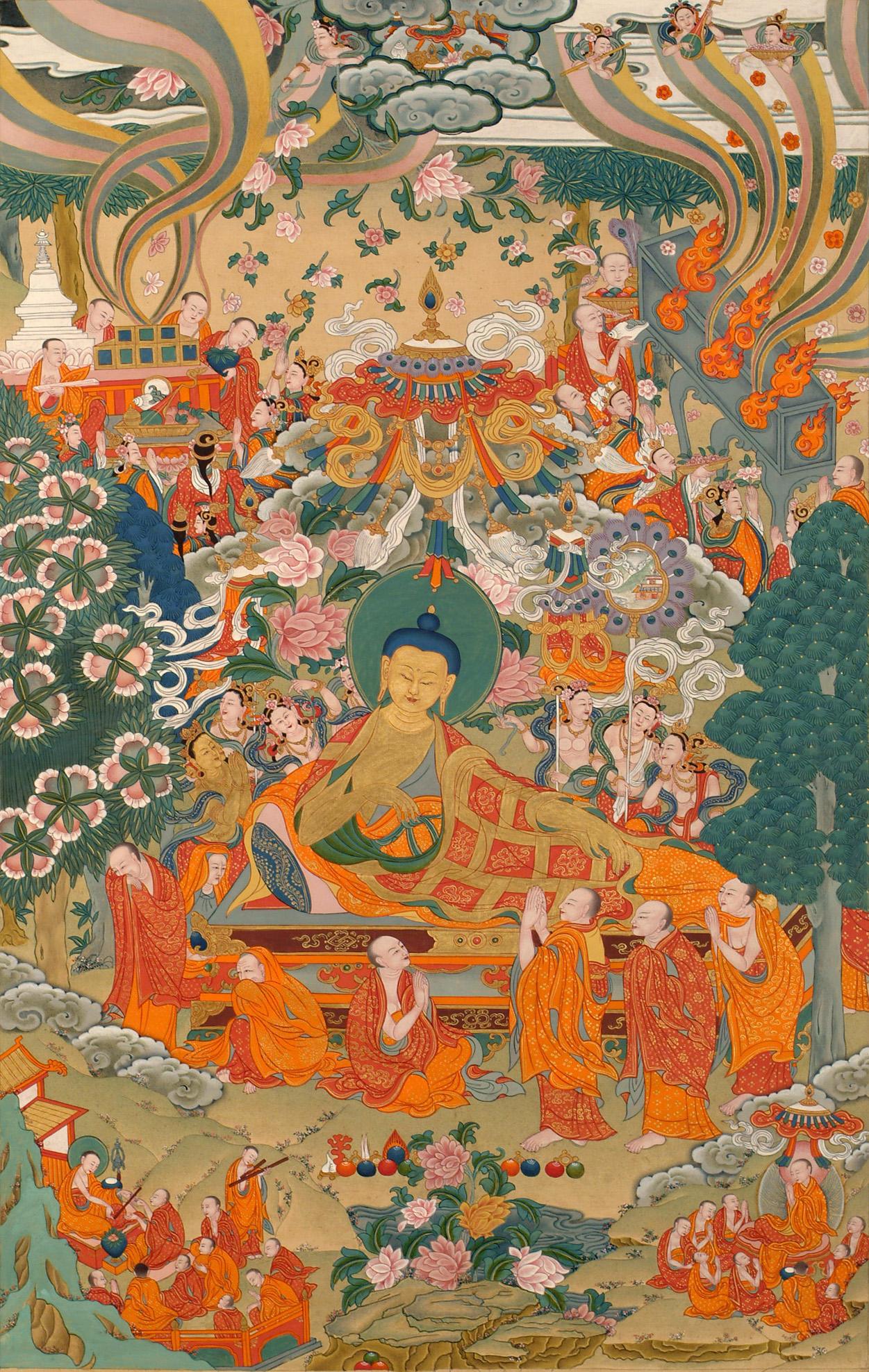 Passing into Mahaparinirvana