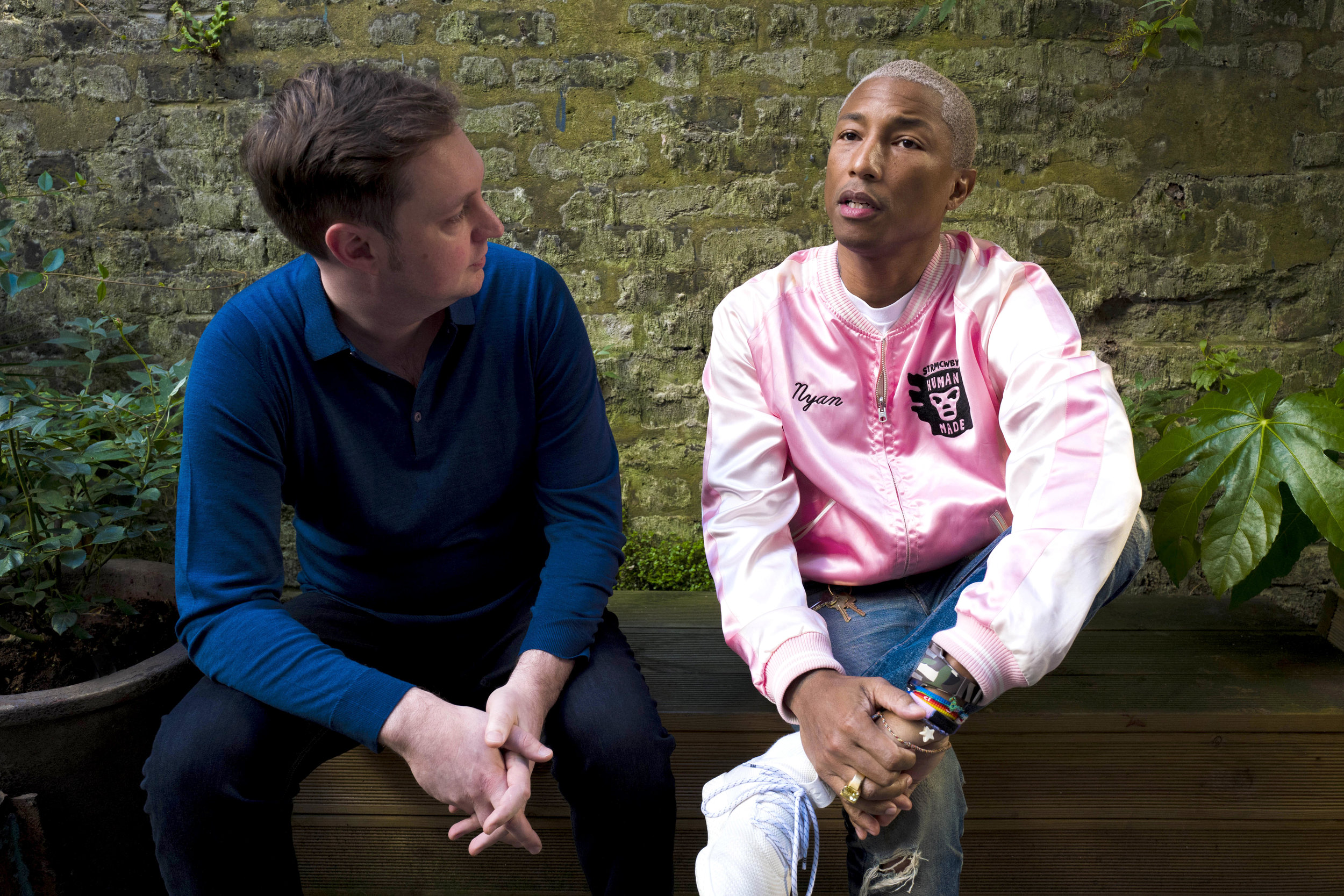 Left: Roland Lamb (Founder and CEO) Right: Pharrell Williams (Chief Creative Officer)