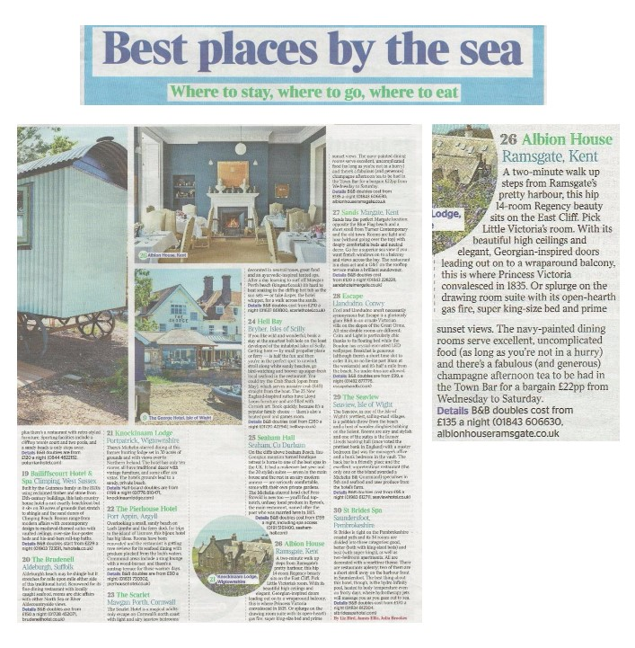 Albion House Hotel in the Times