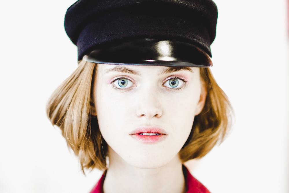 Ukrainian Fashion Week - Model Mira March - hat designer Ruslan Baginskiy