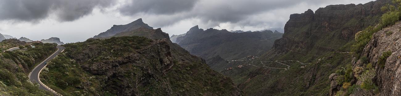 Macizo de Teno mountains and the most dangerous road of the island