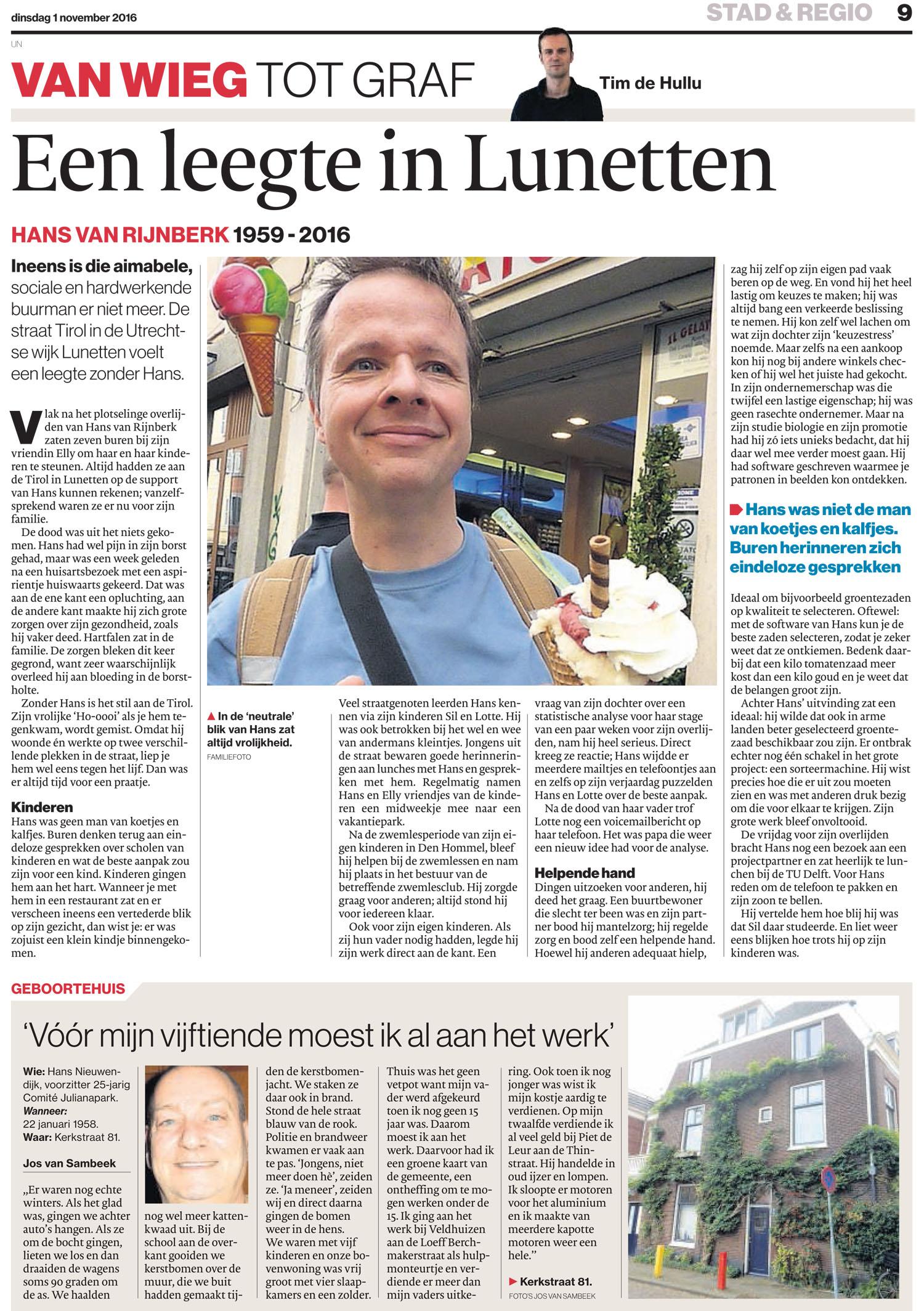 Hans van Rijnberk artikel